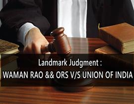 WAMAN RAO V. UNION OF INDIA (1981)